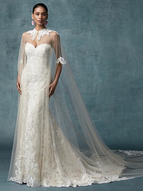 England Dawn Cape Wedding Dress By Maggie Sottero The Dressfinder Canada
