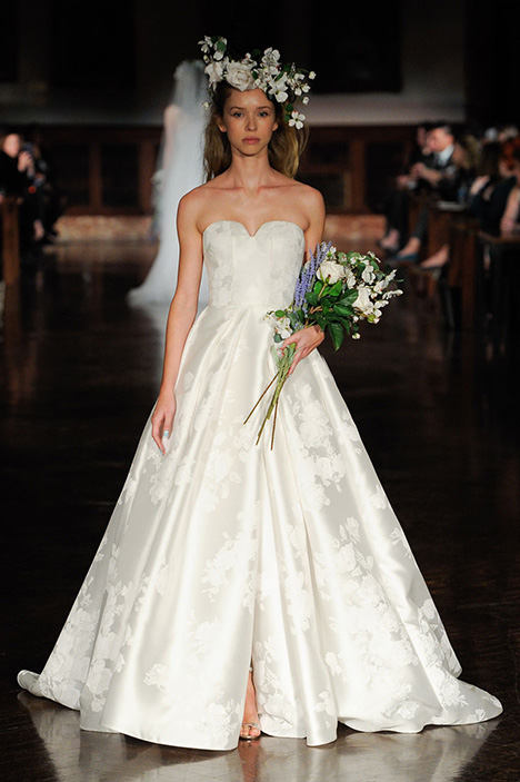 043fa03b0acb Flock of Angels gown from the 2019 Reem Acra collection, as seen on  dressfinder.