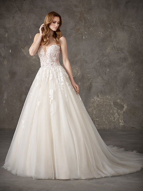 e9114bb9d6d7 NALON gown from the 2019 Pronovias Privée collection, as seen on  dressfinder.ca