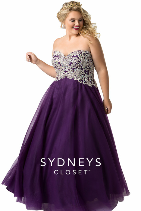 64ddf10354a SC6009 (plum) gown from the 2019 Sydney s Closet Prom+ collection